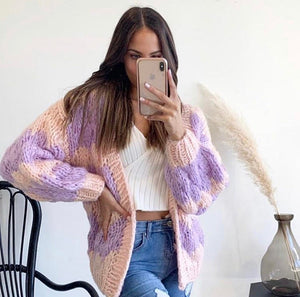 Pastel Hand Knitted Cardi