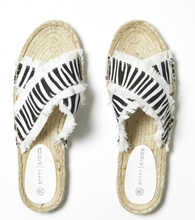 Load image into Gallery viewer, SEEKER ESPADRILLE SLIDES | ZEBRA