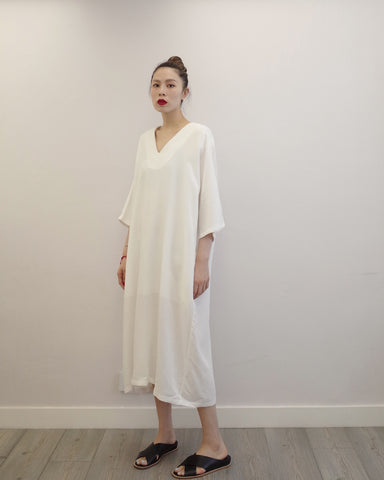 premium linen dress with belt