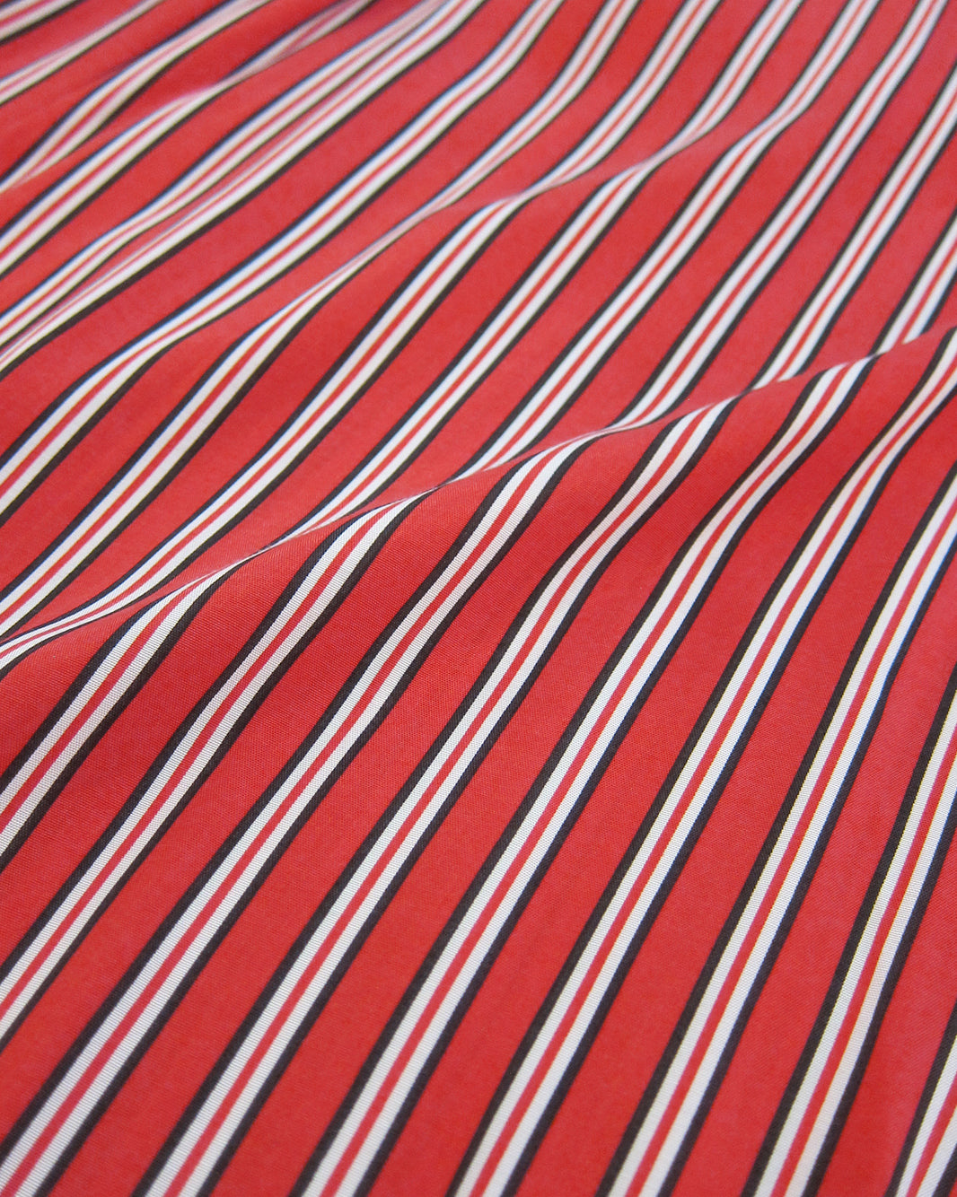 Red Stripey Silky Blouse