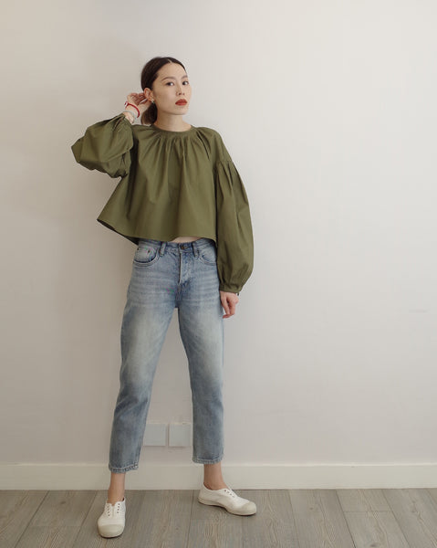 grass green dolly top