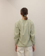 moss green ruched top