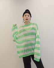 stripy soft knit