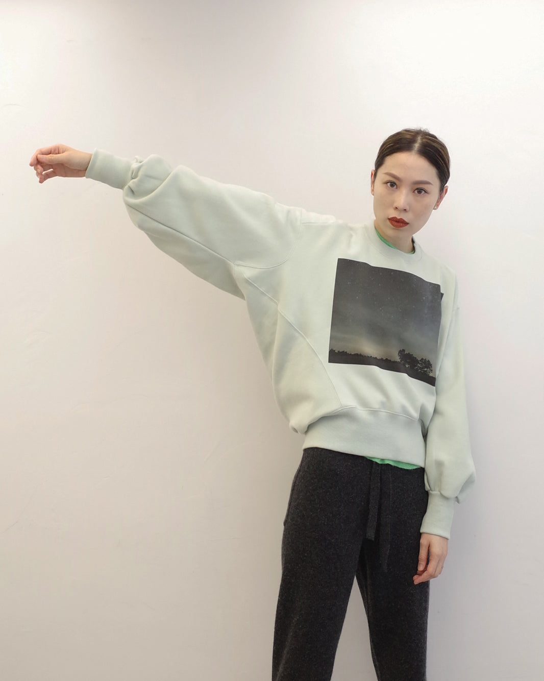 soboro 3D back sweat top