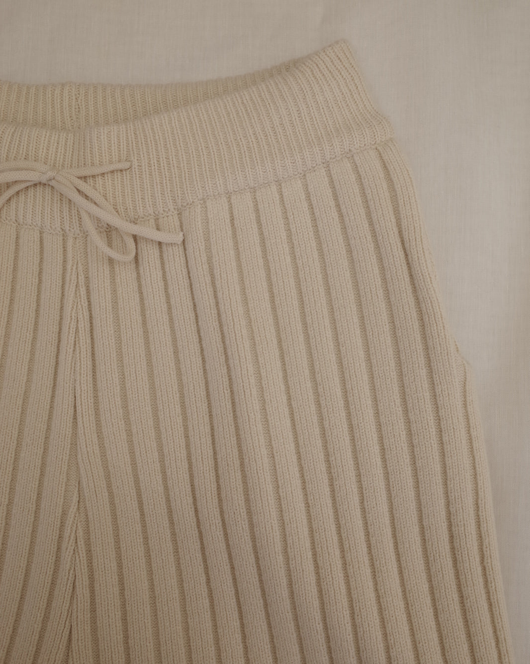 cream ribbed pants