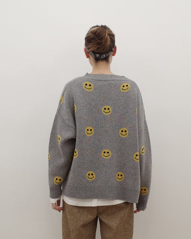 smily face cardigan