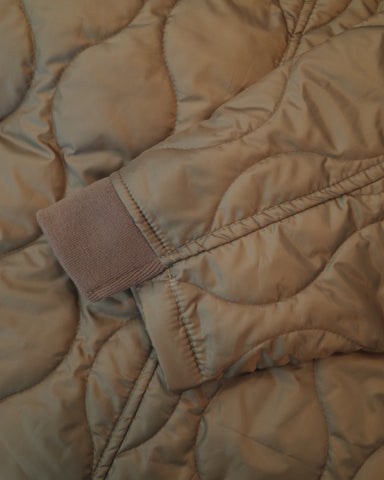 premium quilted long jacket