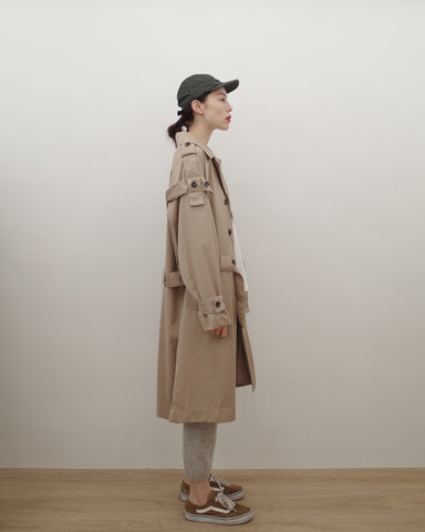 strappy trench coat