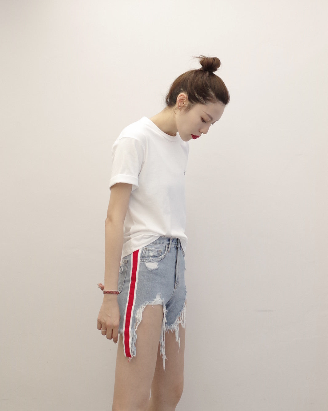 Grosgrain Denim Shorts