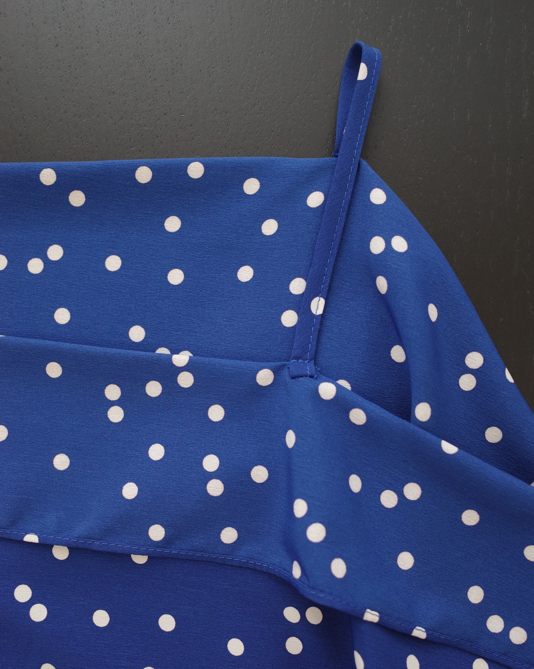 polka dot ruffle dress