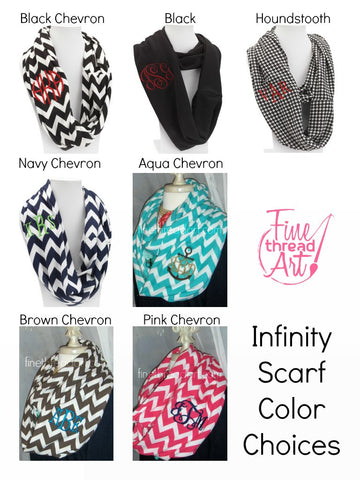 Infinity Scarf with Monogram