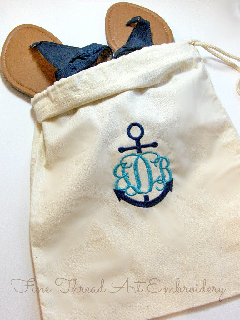 Shoe Bag with Monogram