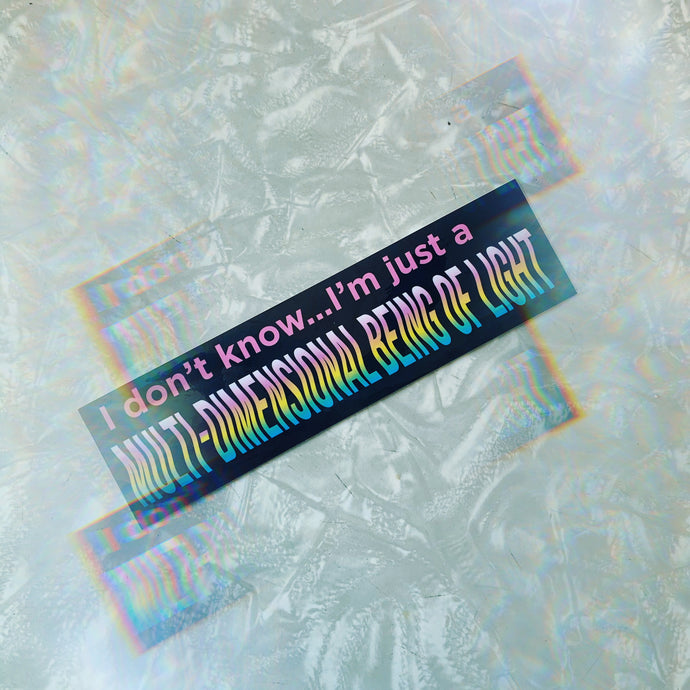 multidimensional being sticker