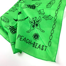 Load image into Gallery viewer, peach beast doodle bandana