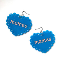 Load image into Gallery viewer, memes heart earrings