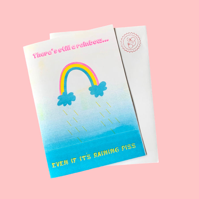 riso rainbow greeting card