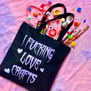 fucking love crafts tote bag