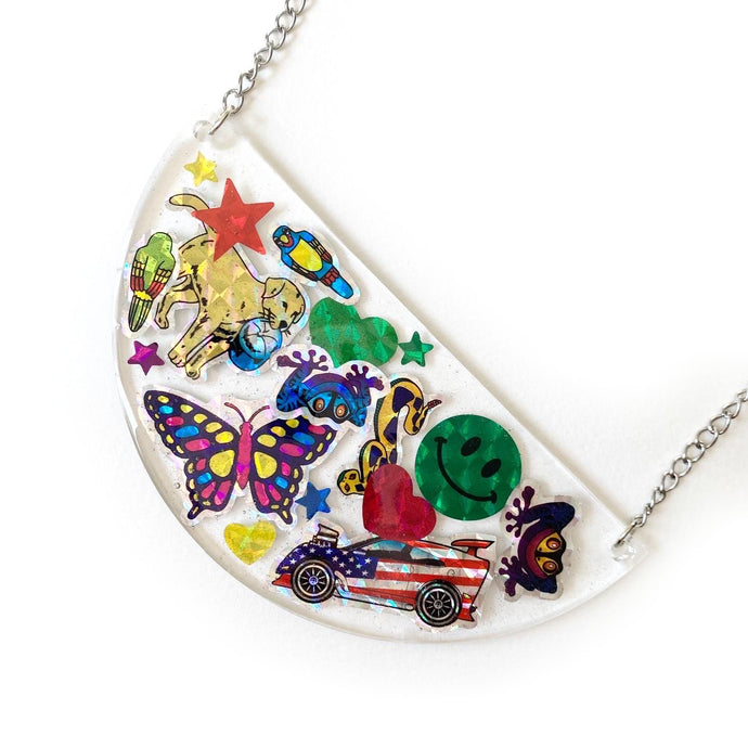 sticker necklace