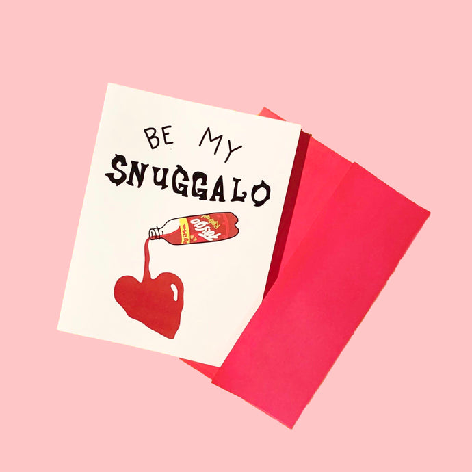 snuggalo greeting card
