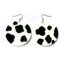Load image into Gallery viewer, cow print earrings