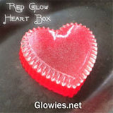 red glow heart jewelry box