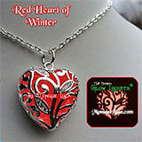 red heart of winter glow heart necklace by monique lula
