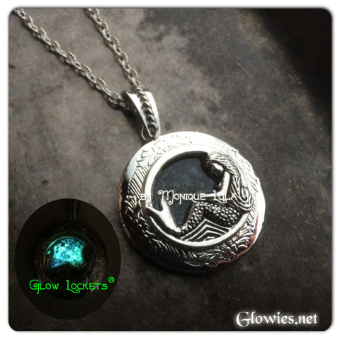 Galaxy Mermaid Glow Locket ® Glowing Necklace