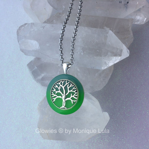 Tree of Life Two Color Glowing Necklace