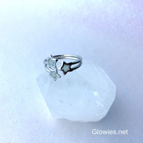 3 Star Adjustable Glow Ring