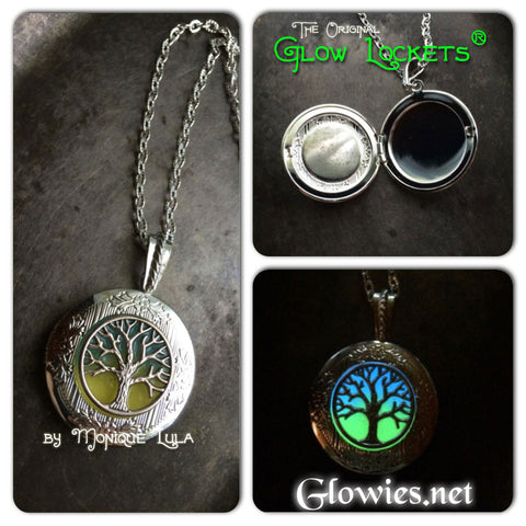 Tree of Life Two Color Glow in the dark Locket