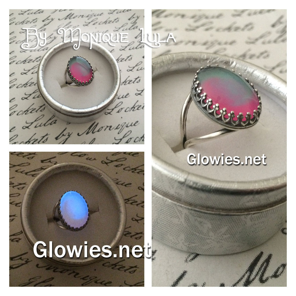 Passion Glow Glass Adjustable Ring