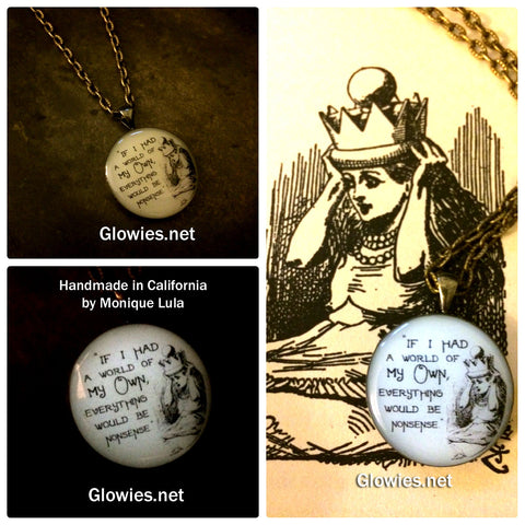 If I Had A World of My Own Alice Glow Necklace