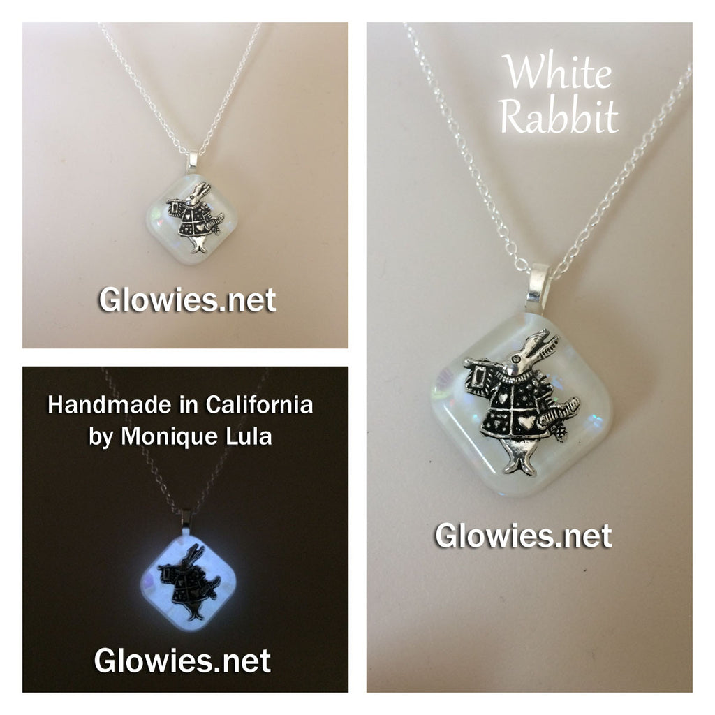 Frozen White Rabbit Glow Necklace