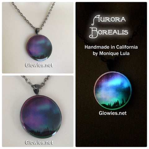 Aurora Borealis Glow Art Necklace