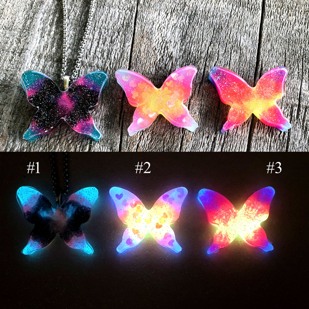 Glow Butterfly Necklace Batch #4