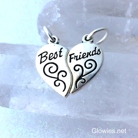 Best Friends Heart Charm Set