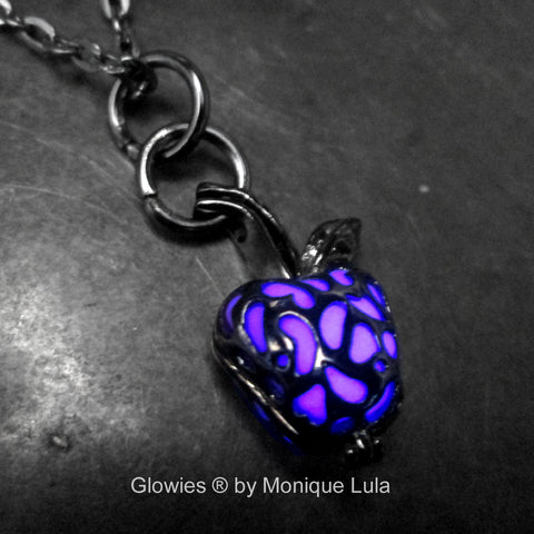 Purple Enchanted Black Apple Glow Locket ®