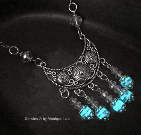 Crystal Boho Chic Glow Statement Necklace