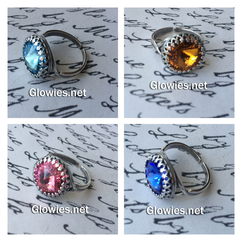 Birthstone Crystal Ring
