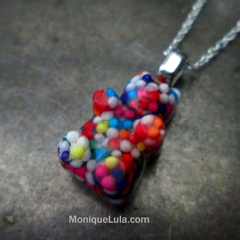 Candy Sprinkle Bear Necklace