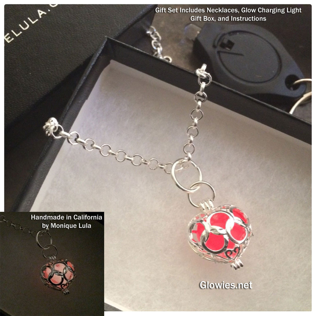 Gift Set Capture Her Heart Glow in the dark Necklace