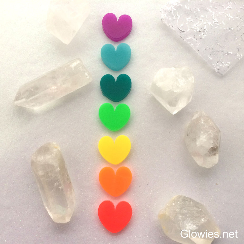 Glow Chakra Heart Meditation Set of 7