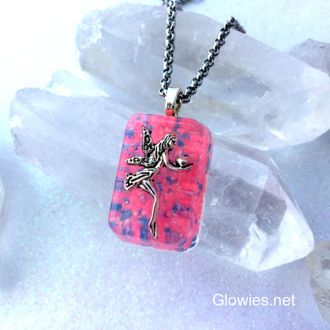 Frozen Love Fairy Glowing Pixie Necklace