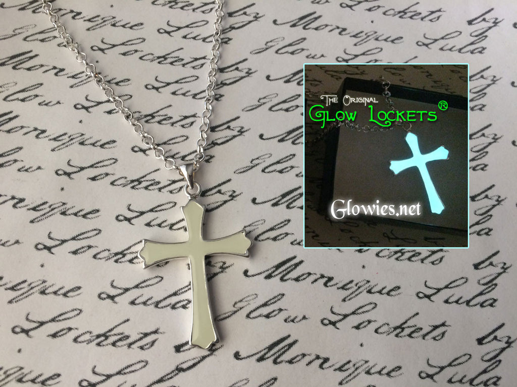 Long Glowing Cross Necklace