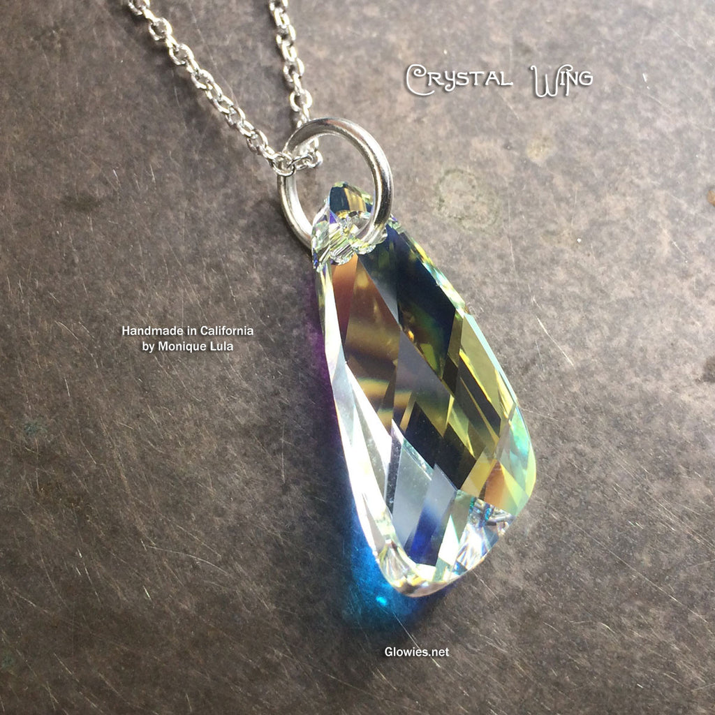 Genuine Swarovski Crystal Wing Necklace