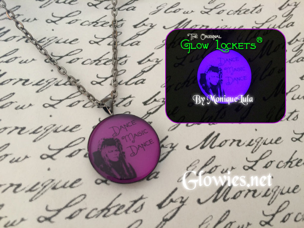 Dance Magic Dance Labyrinth inspired Glow in the dark Pendant