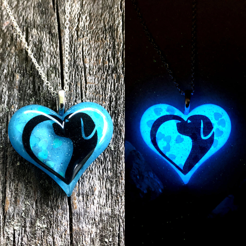 Dog Lover Glow Heart Necklace