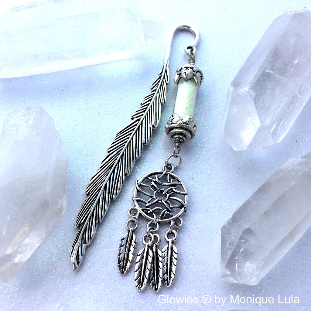Dream Catcher Glow Lantern Feather Bookmark
