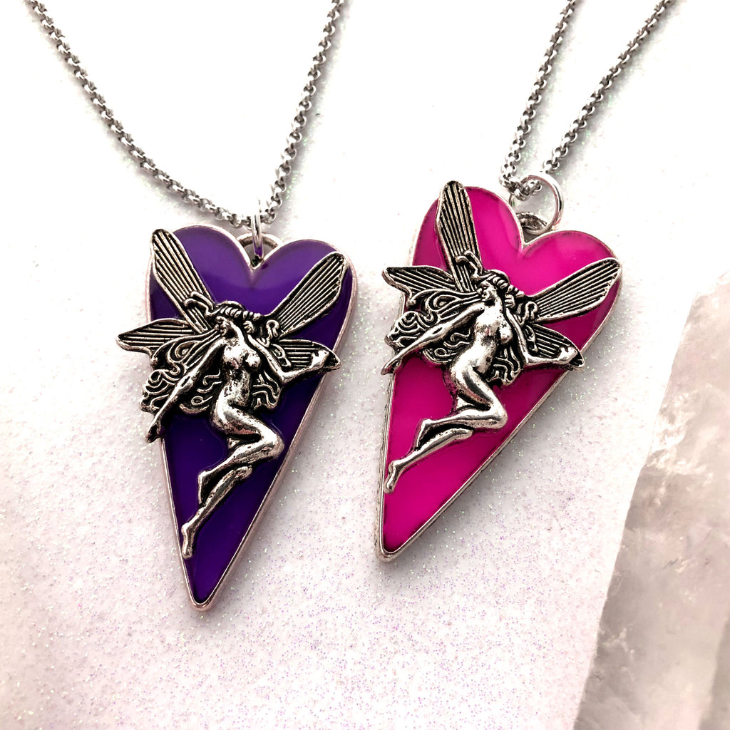 Glow Fairy Pointed Heart Necklace