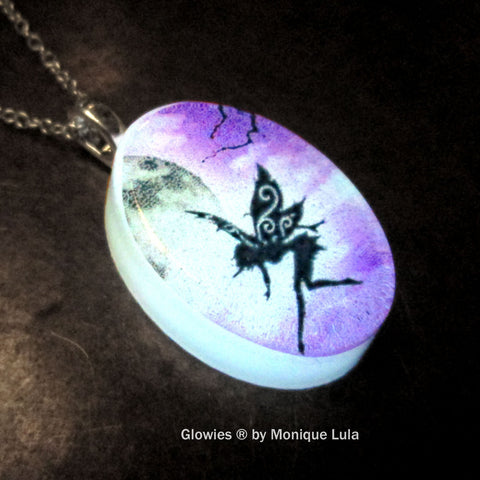 Orb Fairy Oval Glow Necklace